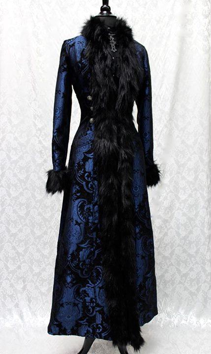 BLACK FOREST COAT - BLUE_BLACK TAPESTRY