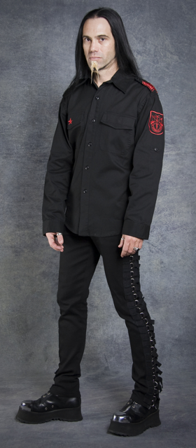 GUERRILLA ARMY SHIRT - BLACK W RED