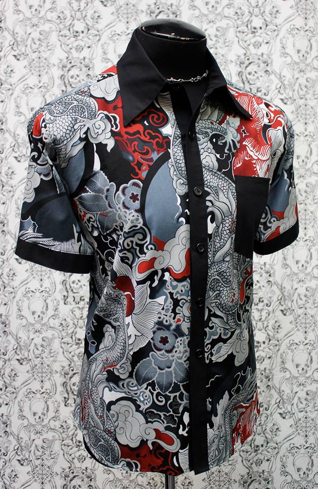 MONSTER SHIRT - CHINESE DRAGON PRINT
