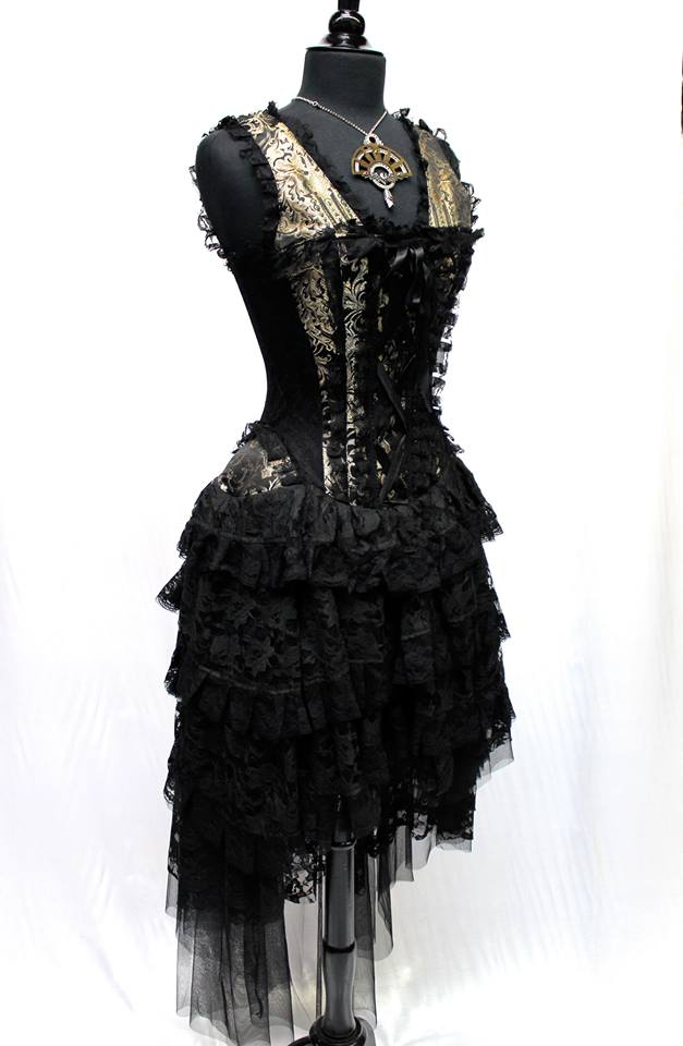 PARIS CABARET DRESS - GOLD_BLACK
