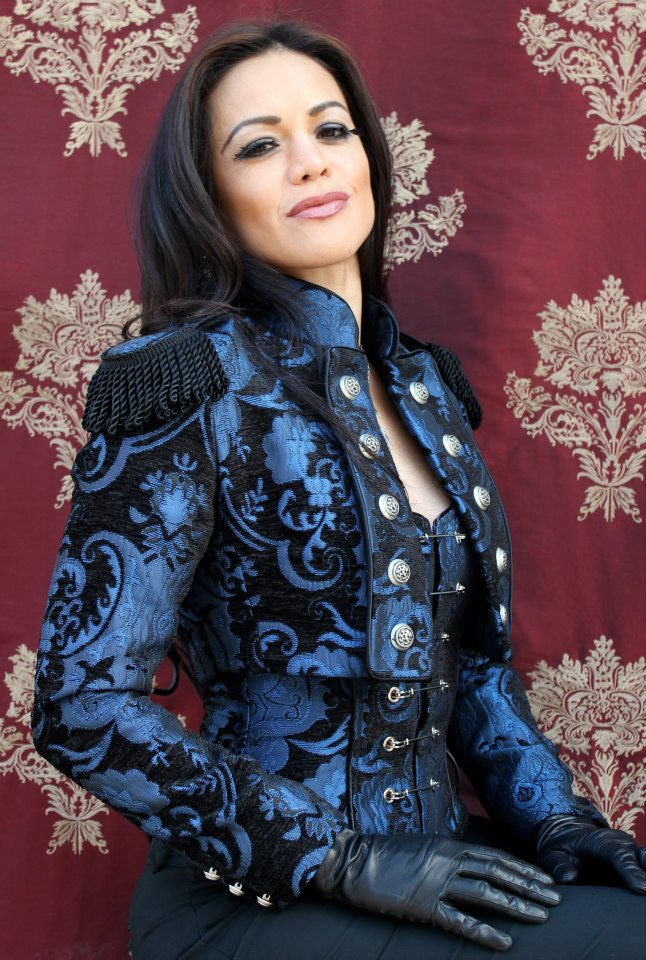 TOREADOR JACKET - BLUE AND BLACK TAPESTRY