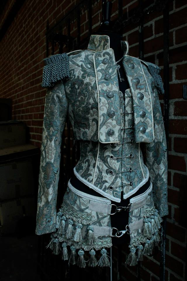 TOREADOR JACKET - GREEN_IVORY TAPESTRY