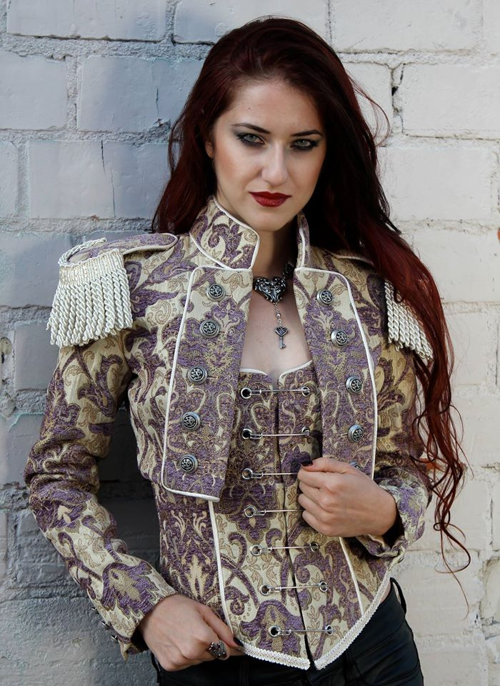 TOREADOR JACKET - PURPLE_IVORY TAPESTRY