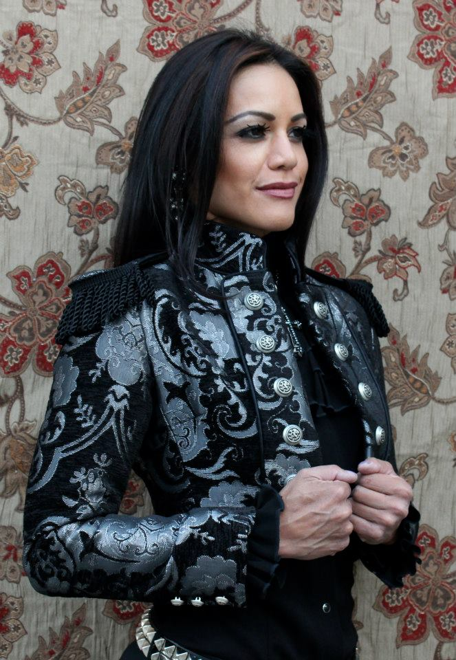 TOREADOR JACKET - SILVER AND BLACK TAPESTRY
