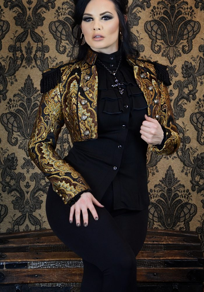 TOREADOR JACKET - STEAMPUNK BROWN_GREEN_GOLD TAPESTRY