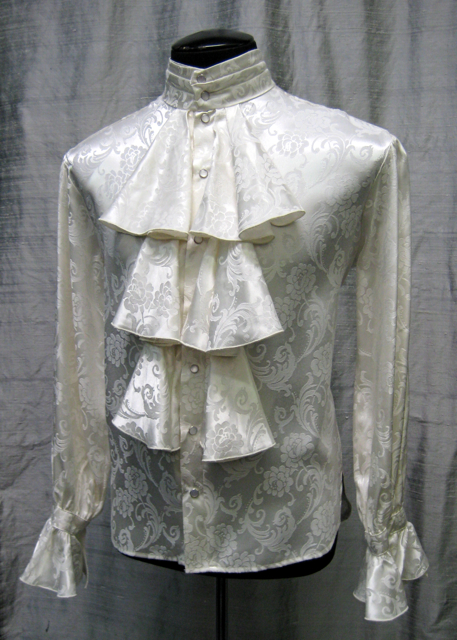 Louis XIV Shirt - ivory jacquard - closeup